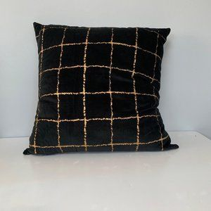 NEW Project 62 Black Gold Striped Toss Pillow